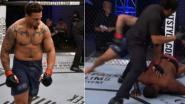 Zwaargewicht maakt na carrière in het American Football zijn entree in de MMA-kooi, en daar weten ze héél snel welk vlees ze in de kuip hebben
