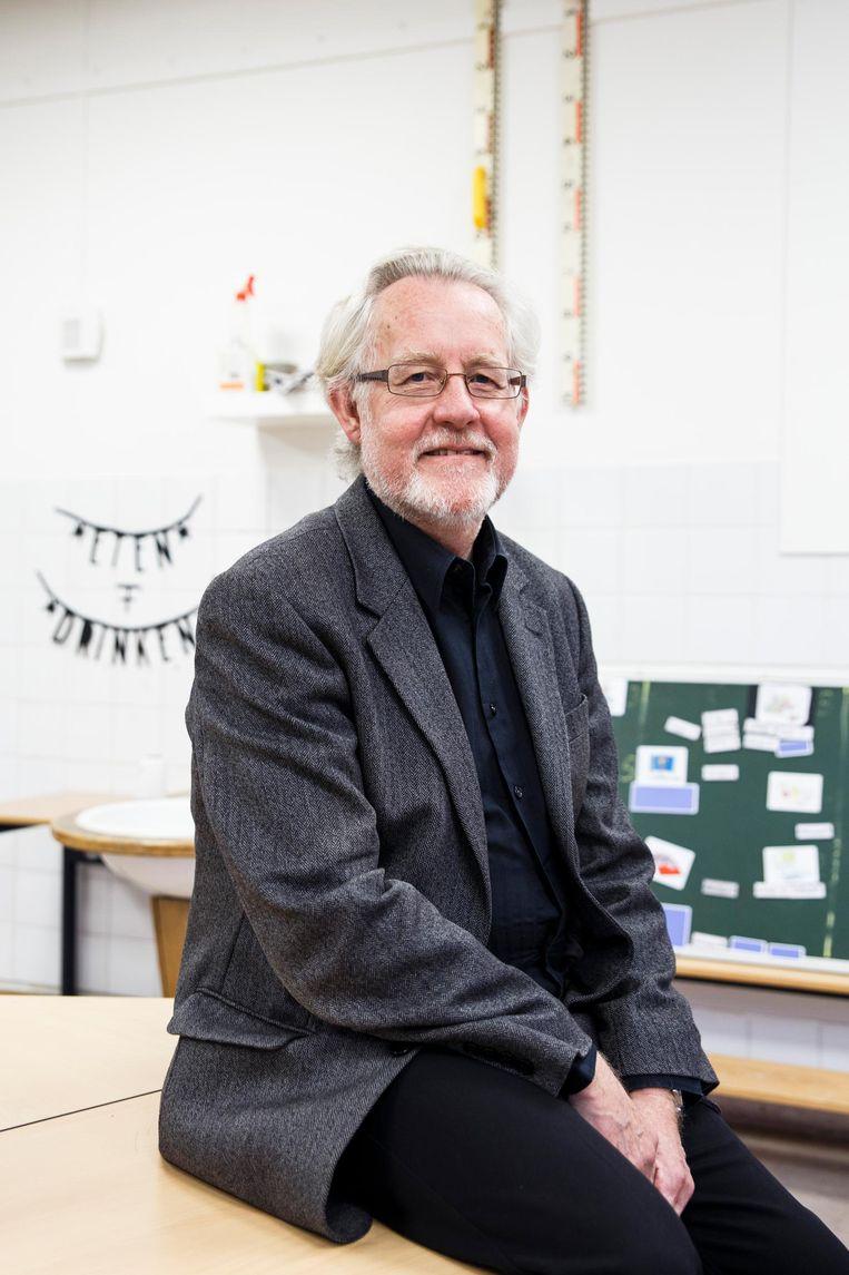 Bert Meijer, directeur van de Flevoparkschool. Toen hij drie jaar geleden kwam, had de school een slechte naam Beeld Carly Wollaert