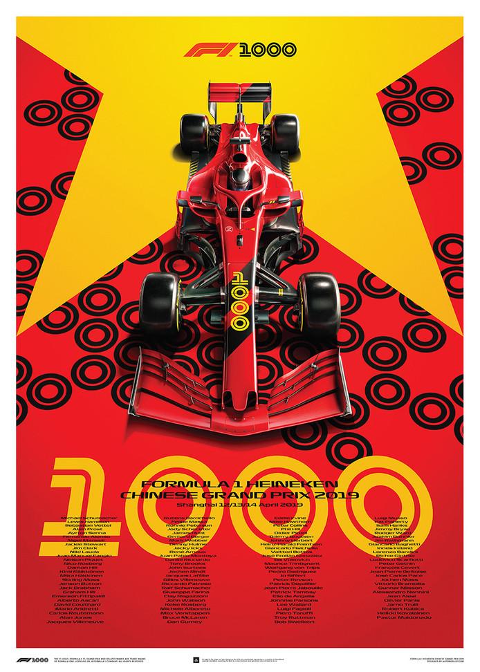 Aftellen naar de 1000ste Grand Prix, komend seizoen in China.