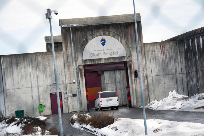 De poort van de gevangenis in Skien