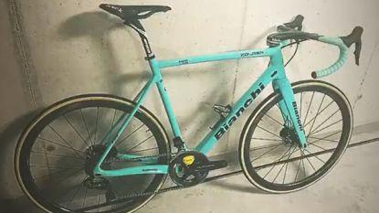 Hij moet nog even geduld uitoefenen, maar nieuwe Bianchi-crossfiets staat wel al te wachten op Van Aert