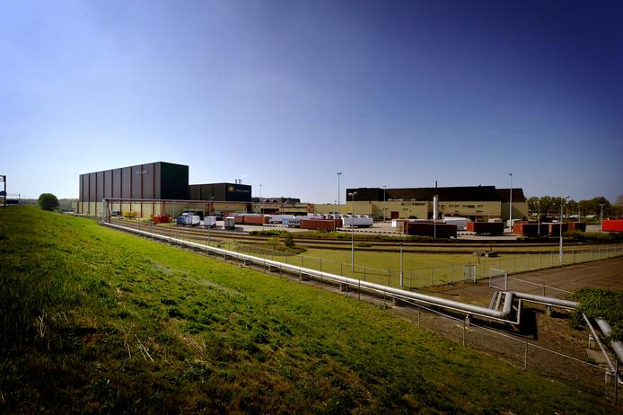 De fabriekshallen van Philip Morris in Bergen op Zoom.