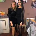 Fadia (à gauche) et sa soeur Ahlam (à droite).
