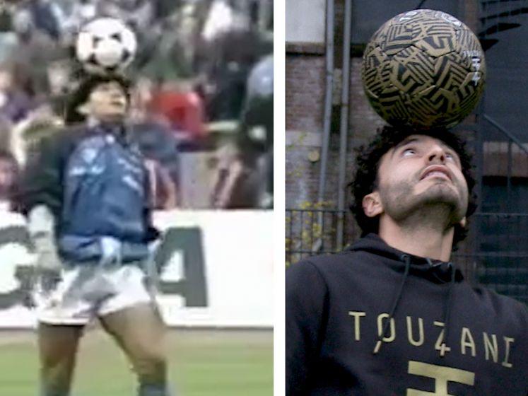 Soufiane Touzani brengt op eigen wijze eerbetoon aan Maradona