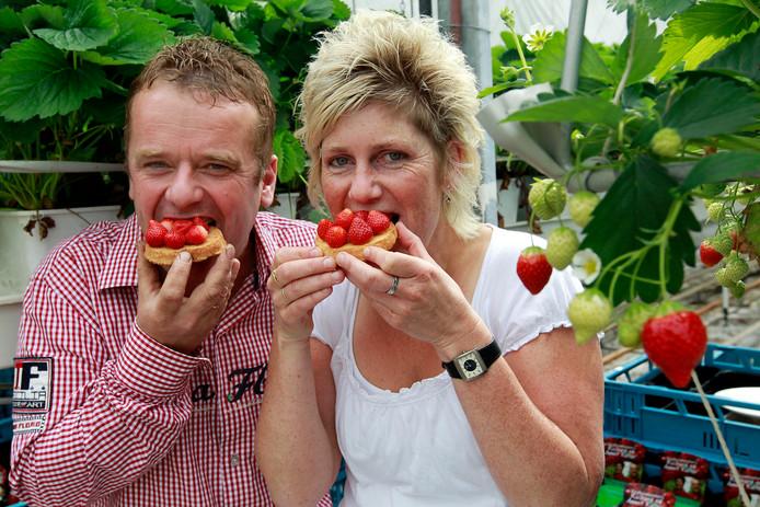 In 2010 drongen Richard en Annet Kalter nog door tot de finale van Helden van de Smaak. Sinds anderhalf jaar hebben de aardbeienkwekers te maken met inbraken.