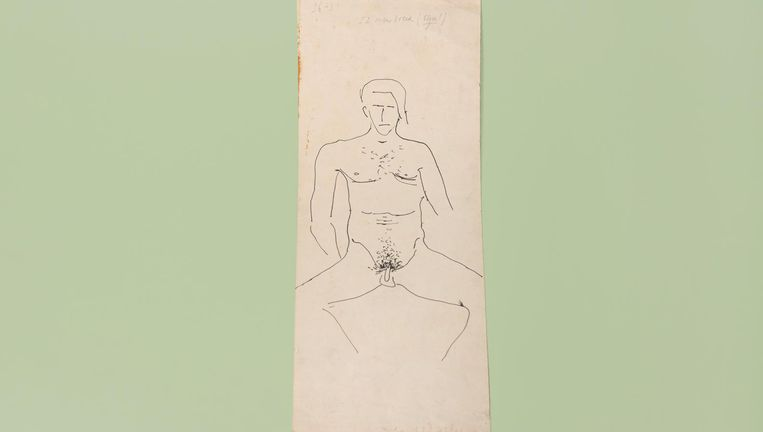 Een naakte Jan Wolkers, zelfportret. Beeld Annabel Miedema