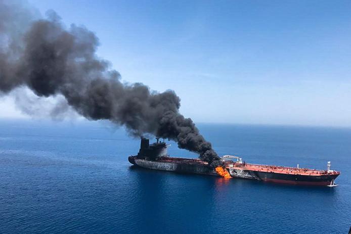 Pétrolier attaqué dans la mer d'Oman, le 13 juin.