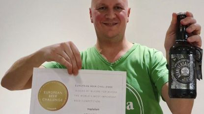 Oudenaardse hobbybrouwer Sam Vanderstraeten behaalt met Nonniversaire goud op European Beer Challenge in Londen