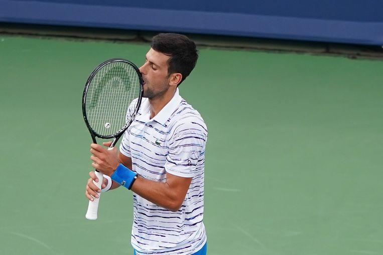 Teleurstelling bij Novak Djokovic in de halve finale van het masterstoernooi van Cincinnati tegen de Rus Daniil Medvedev.