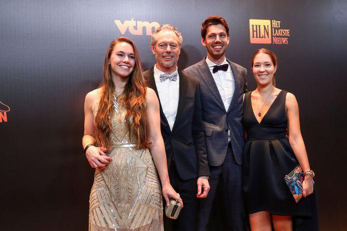 Michel Preud'homme met zijn dochter, zoon en diens vriendin.