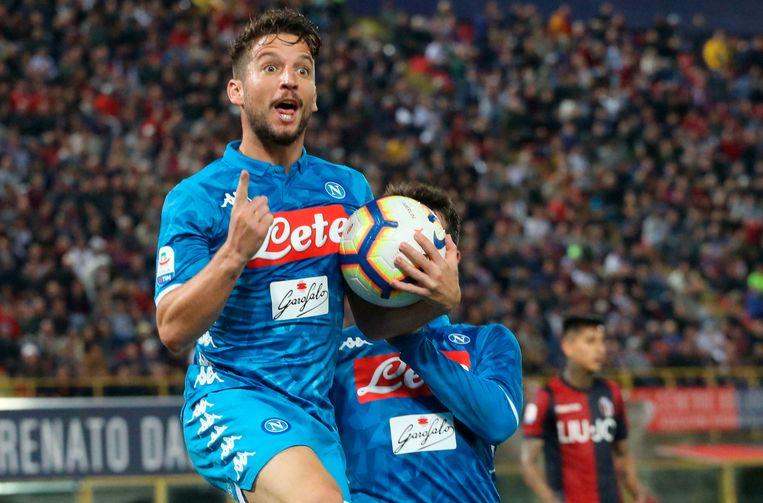 Dries Mertens was zaterdag in Bologna goed voor zijn zestiende goal.