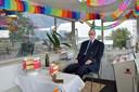 Teus vierde ook zijn verjaardag in het brugwachtershuisje.