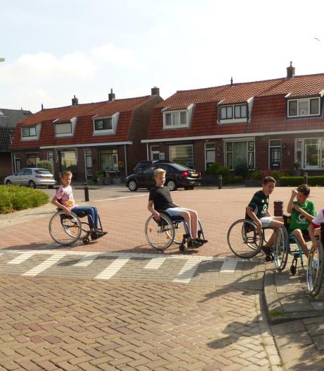 Alle leerlingen in een rolstoel