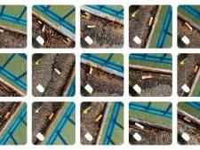 Ruim 600 sigarettenpeuken op de Merwedebrug bij Gorinchem