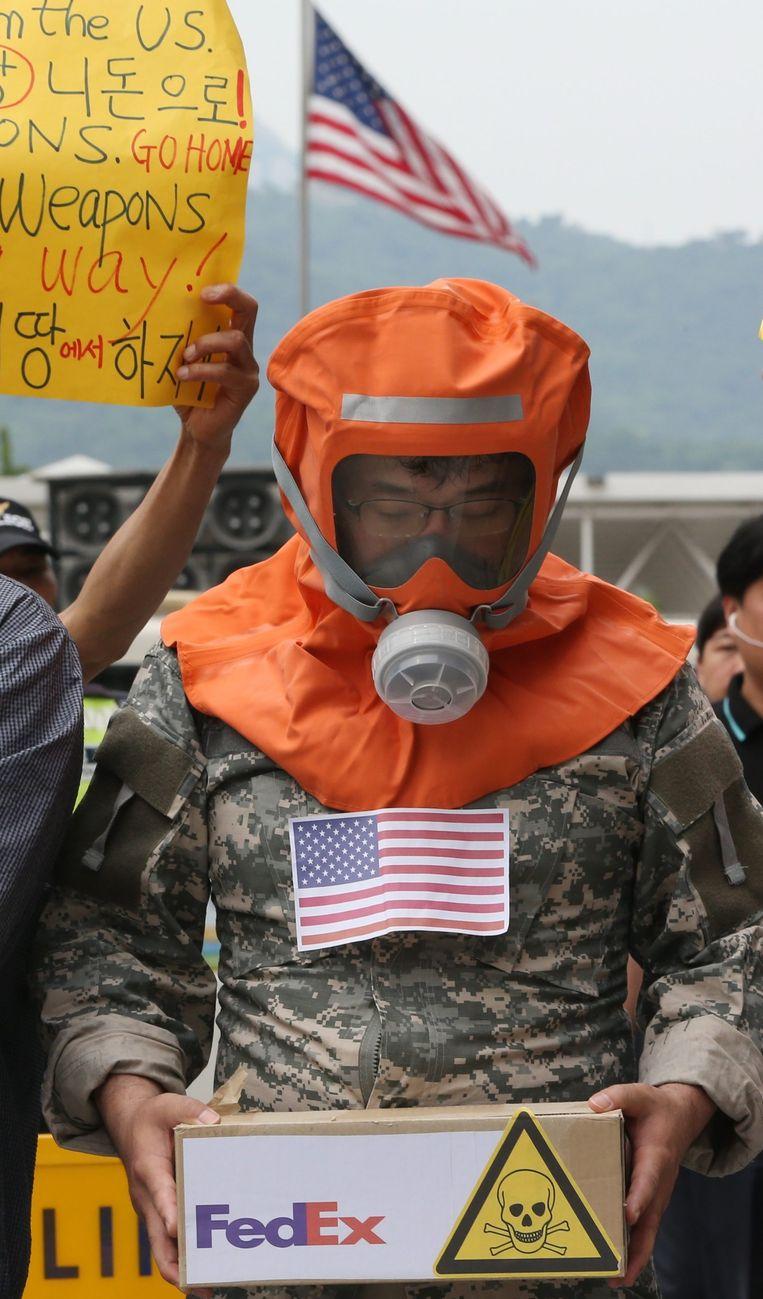 Protest in Zuid-Korea.