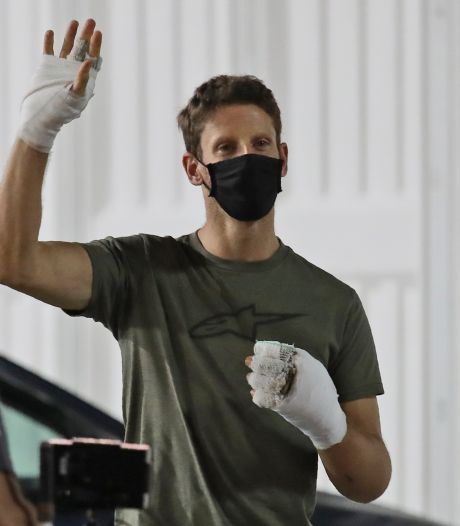 Grosjean twee weken na crash geopereerd aan beide handen