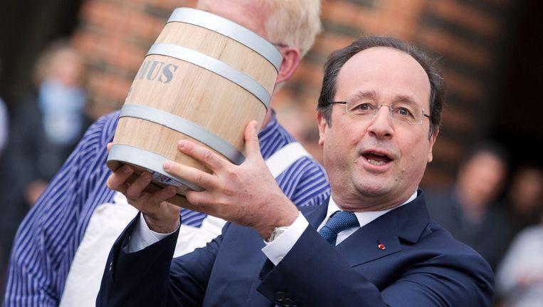 Hollande met zijn vatje haring.