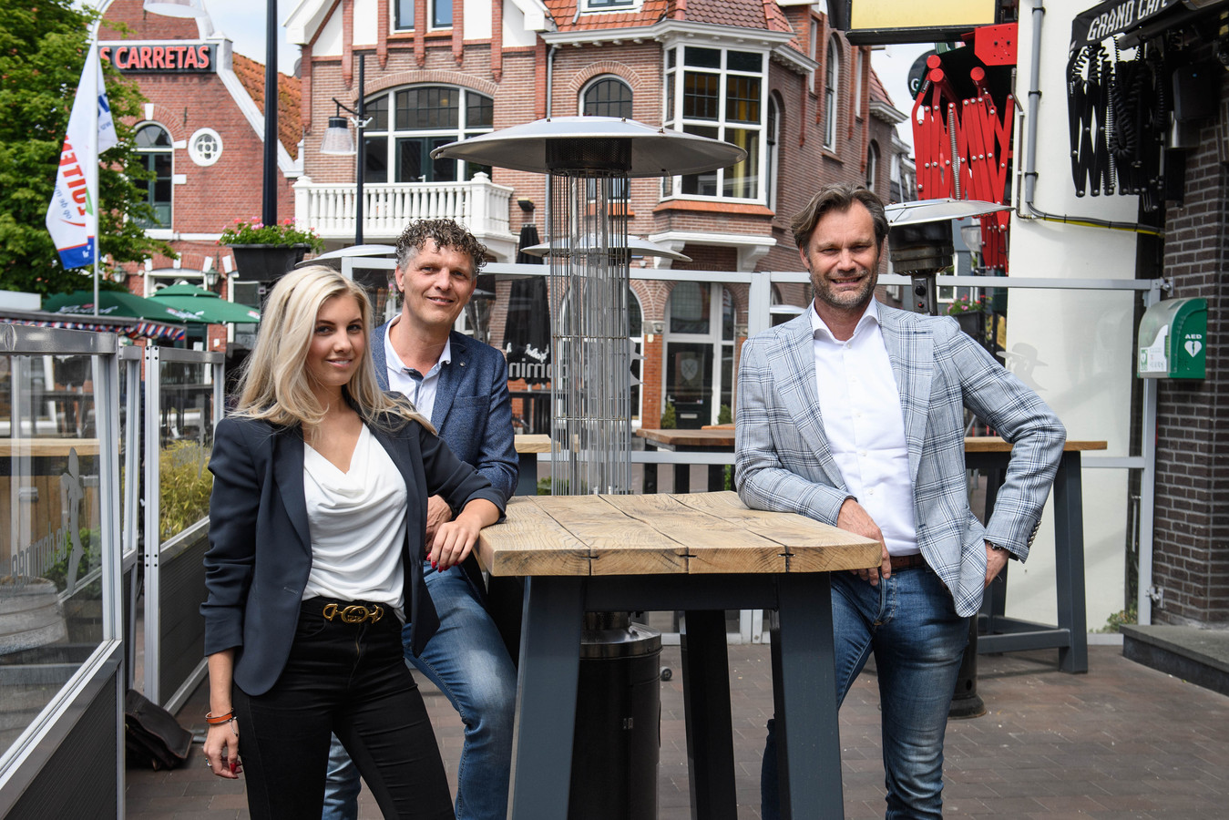 Laurie Wissink, Jurgen Wissink en Marcel Roorda, initatiefnemers terrasjeboeken.nl.