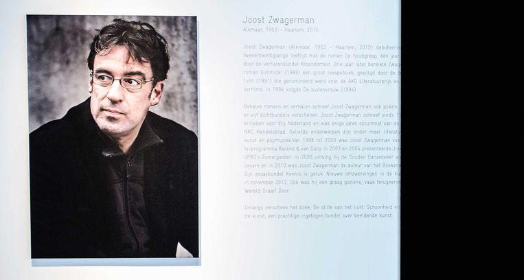 De perspreview van Silence Out Loud, de tentoonstelling van Joost Zwagerman in museum Kranenburgh. De schrijver beroofde zich eerder dit jaar van het leven. Beeld anp