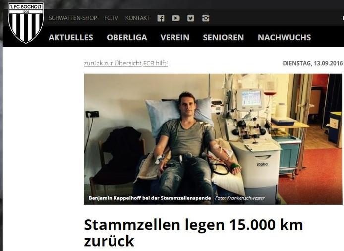 Benjamin Kappelhof ligt aan het infuus, dat zijn stamcellen aftapt en veiligstelt.