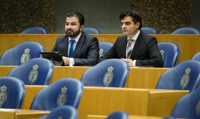 Ex-PvdA-Kamerleden Tunahan Kuzu en Selcuk Öztürk, vormen nu samen in de Kamer 'Denk'. Beeld anp