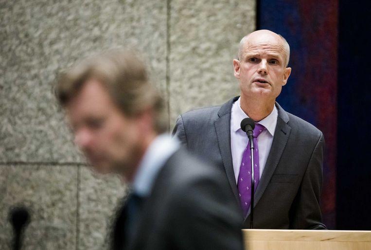 Minister Stef Blok van Buitenlandse Zaken (VVD) tijdens het vragenuur in de Tweede Kamer.  Beeld ANP - Bart Maat