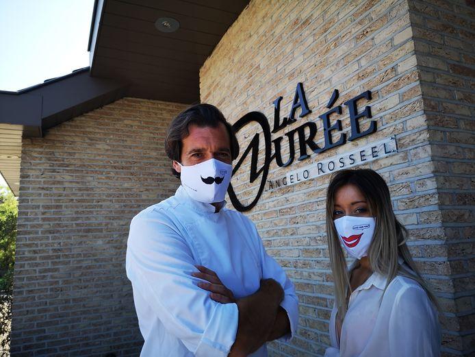 Chef Angelo Rosseel van La Durée liet dit voorjaar nog mondmaskers met een ontwerp van Kamagurka voor zijn klanten ontwerpen.