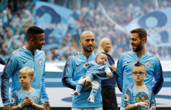 Gabriel Jesus, David Silva en Bernardo Silva.