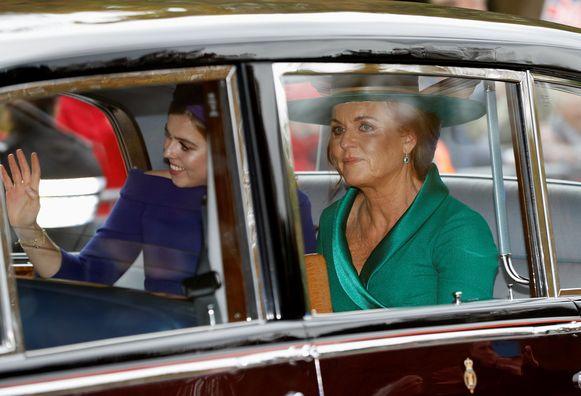 Sarah Ferguson en prinses Beatrice.