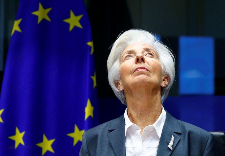 Christine Lagarde, voorzitter van de Europese Centrale Bank. Beeld Reuters