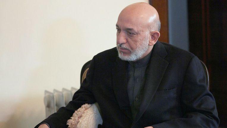 De Afghaanse president Hamid Karzai Beeld getty