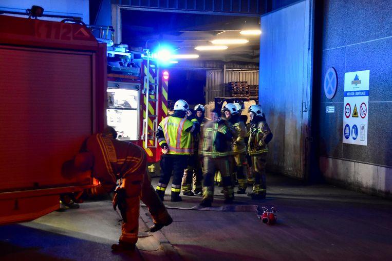 De brand bij veevoederfabrikant Dumoulin was snel onder controle.
