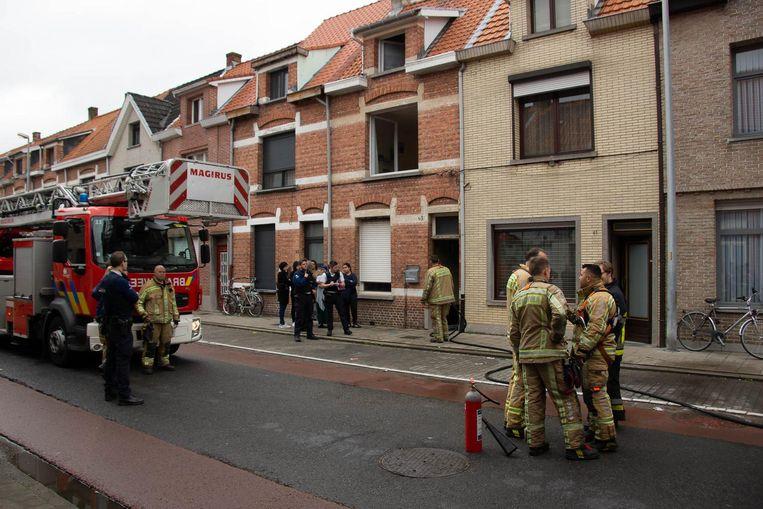 Het huis in de Pastoor De Meerleerstraat liep heel wat rook- en roetschade op.