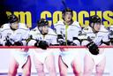 Sport en humor; het behoeft geen betoog bij deze foto van Canadese ijshockyers.