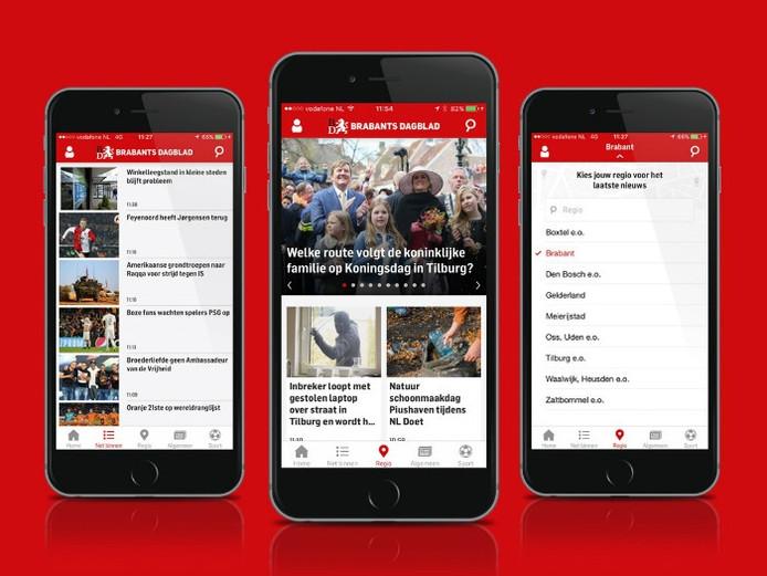De nieuwe app van het Brabants Dagblad.
