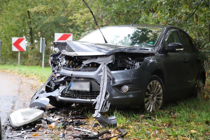 Ongeluk op de Steeg in Schijndel.