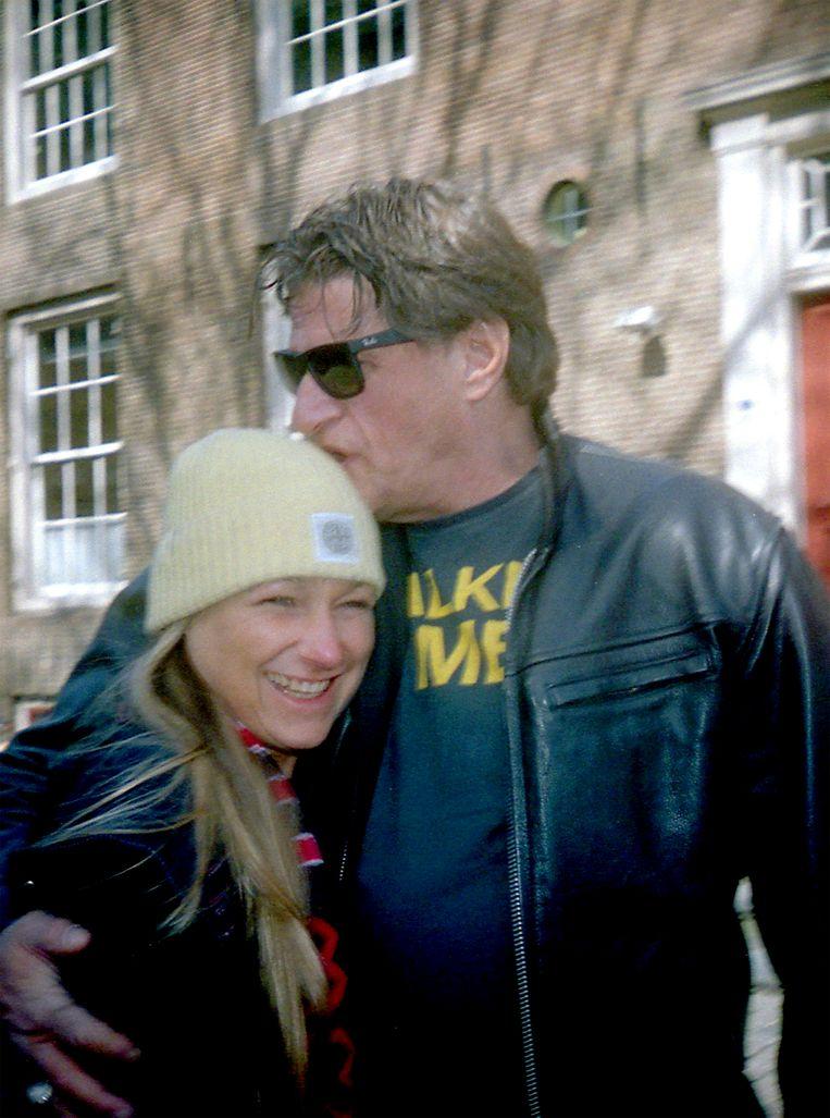 Jolene met ex-stiefvader Keith Bakker. Beeld Elza Jo