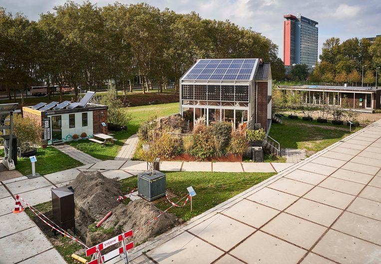 The Green Village, proeftuin voor duurzame innovaties op de campus van de TU Delft, waar men ervaring opdoet met het gebruik van waterstof. Beeld Phil Nijhuis