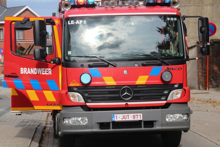 Autopomp lede brandweer brandweerwagen