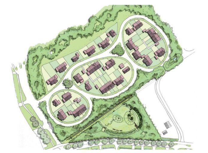 Het ontwerpbestemmingsplan van Heilaarpark, waar 50 koopwoningen komen.