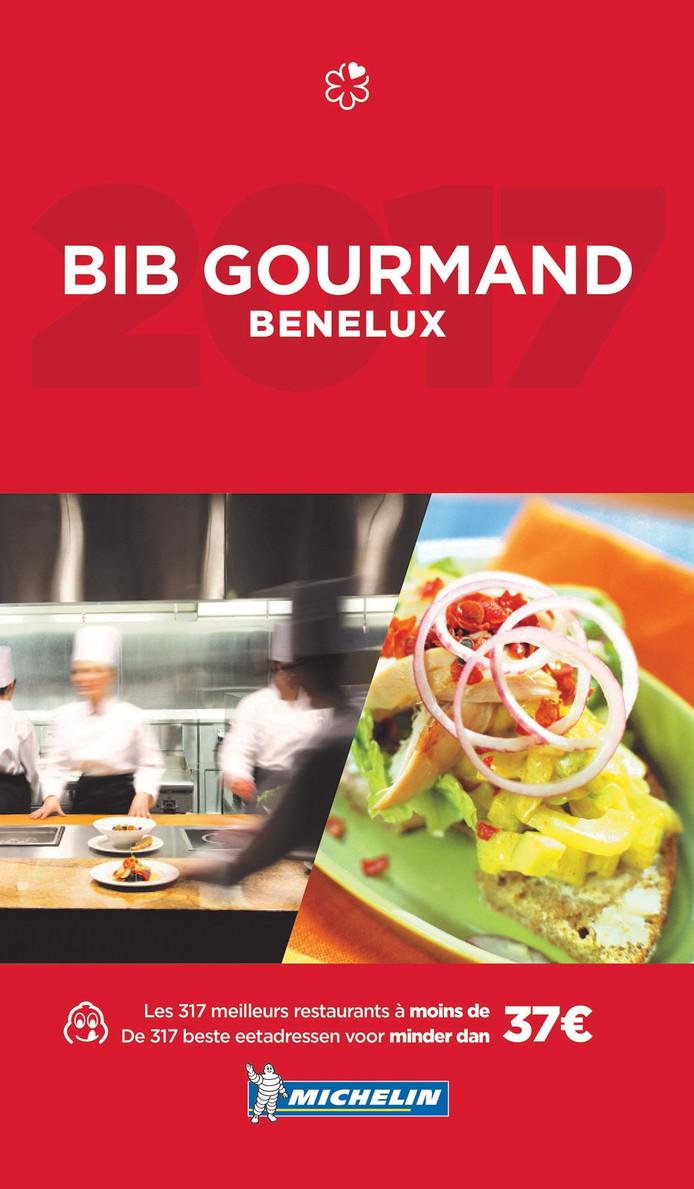 De cover van de Bib Gourmand-gids 2017.