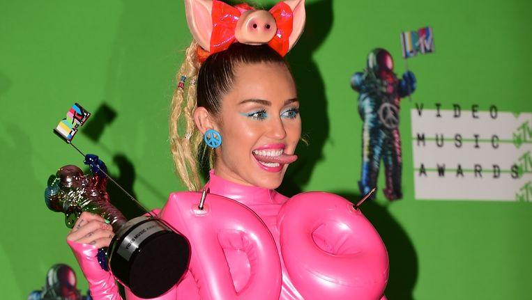 Miley Cyrus tijdens de MTV Video Music Awards. Beeld afp
