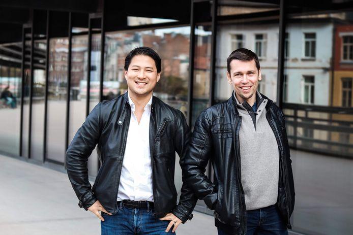 Zhong Xu (links) en Jan Hollez (rechts) richten samen het bedrijf Deliverect op.