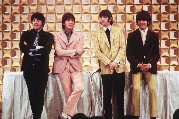 The Beatles, met van links naar rechts Paul McCartney, John Lennon, Ringo Starr en George Harrison.