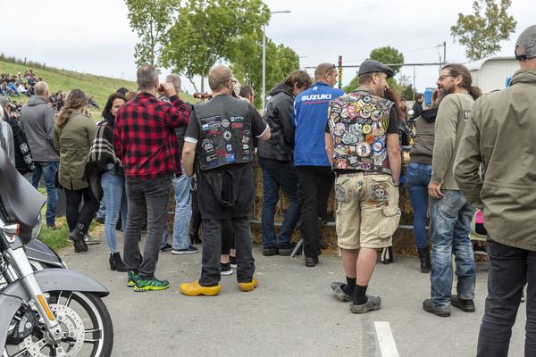 Niet alléén leren motorlaarzen bij het Mosseltreffen.