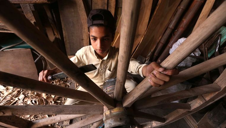 Kinderarbeid in Pakistan. Beeld epa