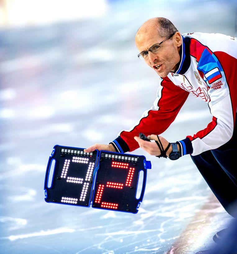 Kosta Poltavets, de Russisch-Nederlandse coach van Rusland.  Beeld Klaas Jan van der Weij