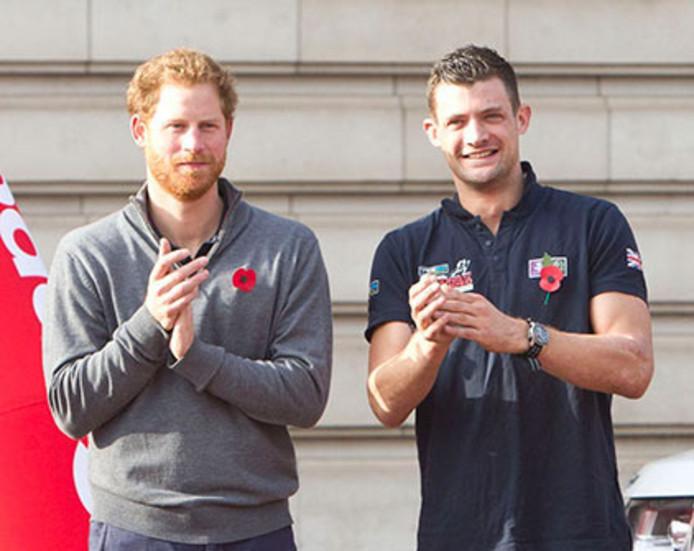 Prins Harry et son ami Jules Roberts.
