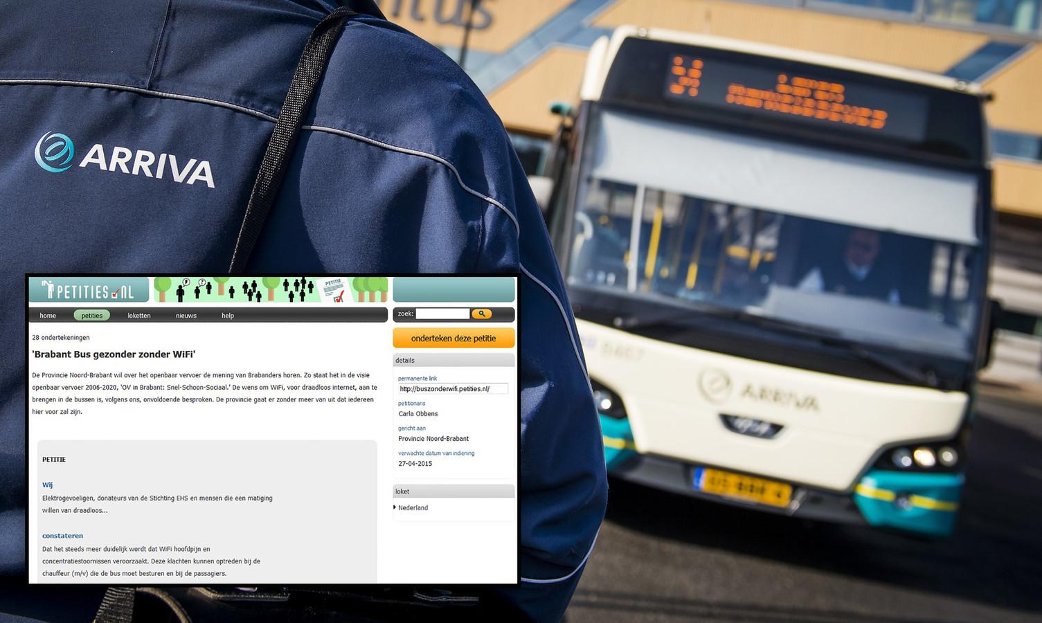 Met de petitie 'Brabant Bus gezonder zonder Wifi' gaat Carla Obbens (58) de strijd aan tegen de moderne snufjes