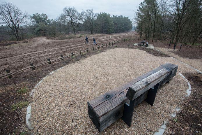 Een van de nieuw aangelegde en reeds geopende recreatieplekken aan de Eindhovensedijk, grenzend aan de Oirschotse Heide.